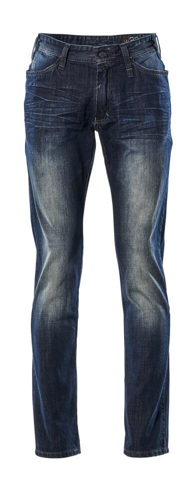 15379-869-76 Jeans - vasket blå denim