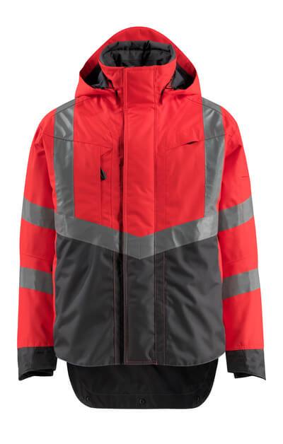 15501-231-14010 Skaljakke - hi-vis orange/mørk marine