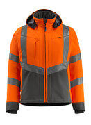 15502-246-1418 Softshell jakke - hi-vis orange/mørk antracit