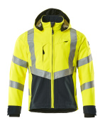 15502-246-14010 Softshell jakke - hi-vis orange/mørk marine