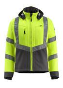15502-246-1718 Softshell jakke - hi-vis gul/mørk antracit