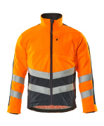 15503-259-14010 Fleecejakke - hi-vis orange/mørk marine