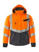 15535-231-14010 Vinterjakke - hi-vis orange/mørk marine