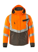 15535-231-1418 Vinterjakke - hi-vis orange/mørk antracit