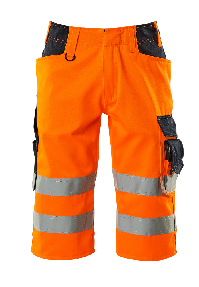 15549-860-14010 Shorts, lange - hi-vis orange/mørk marine