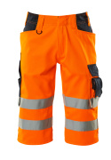 15549-860-14010 Shorts, lange - hi-vis orange/mørk marine