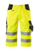 15549-860-17010 Shorts, lange - hi-vis gul/mørk marine