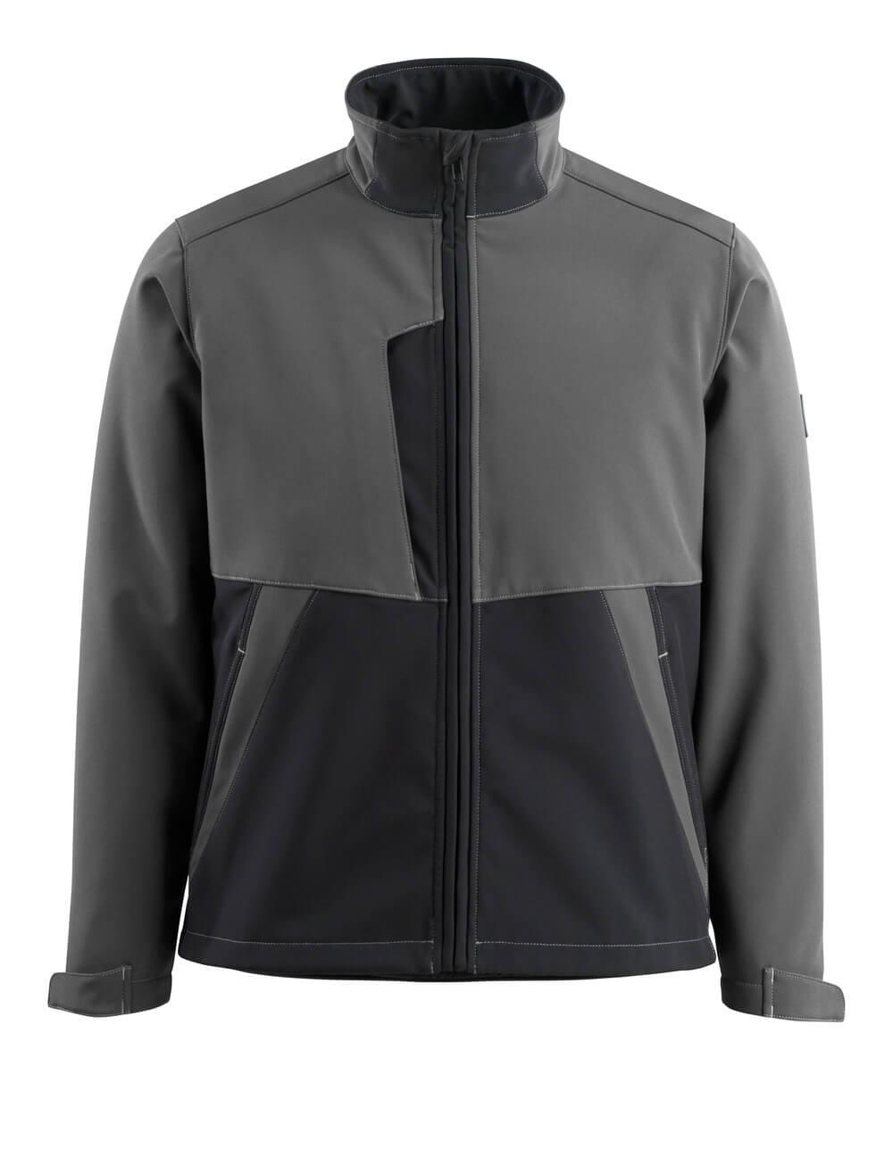 15702-253-1809 Softshell jakke - mørk antracit/sort