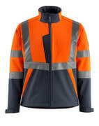 15902-253-14010 Softshell jakke - hi-vis orange/mørk marine
