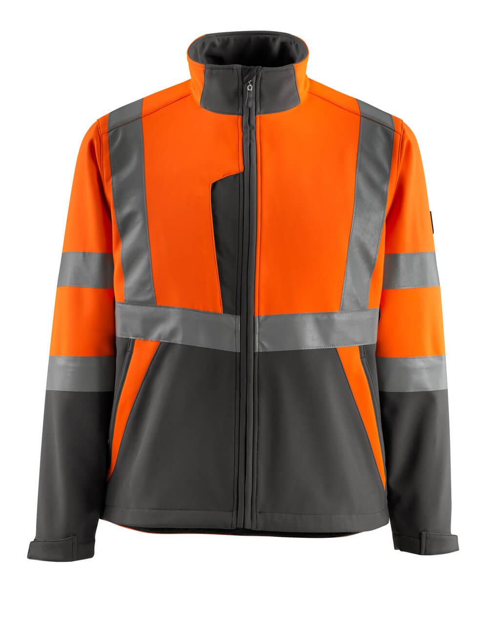 15902-253-1418 Softshell jakke - hi-vis orange/mørk antracit
