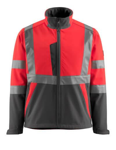 15902-253-14010 Softshell jakke - hi-vis orange/mørk marine
