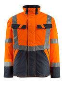 15935-126-14010 Vinterjakke - hi-vis orange/mørk marine