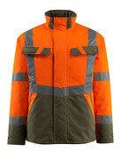 15935-126-1433 Vinterjakke - hi-vis orange/mosgrøn