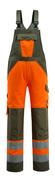 15969-948-1433 Overall med knælommer - hi-vis orange/mosgrøn