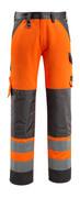 15979-948-1418 Bukser med knælommer - hi-vis orange/mørk antracit