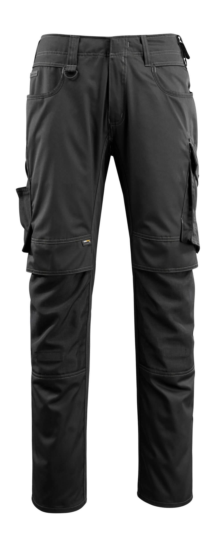 16079-230-09 Bukser med knælommer - sort