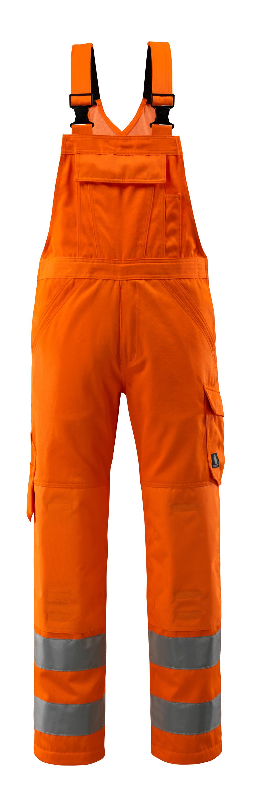 16869-860-14 Overall med knælommer - hi-vis orange