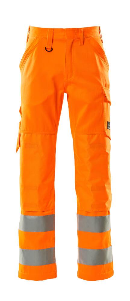16879-860-14 Bukser med knælommer - hi-vis orange