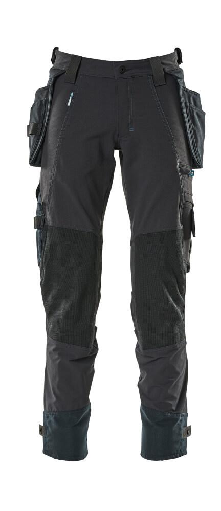 17031-311-010 Bukser med hængelommer - mørk marine