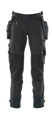 17031-311-010 Bukser med knæ- og hængelommer - mørk marine