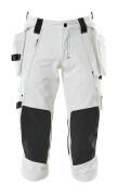 17049-311-06 Knickers med knæ- og hængelommer - hvid