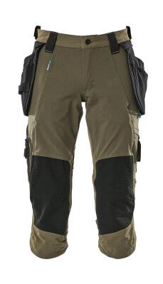 17049-311-010 Knickers med knæ- og hængelommer - mørk marine