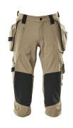 17049-311-55 Knickers med knæ- og hængelommer - lys kaki