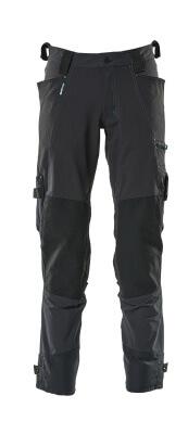 17079-311-010 Bukser med knælommer - mørk marine