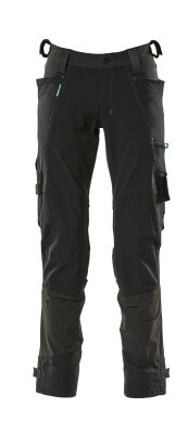 17079-311-09 Bukser med knælommer - sort