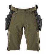 17149-311-33 Shorts med hængelommer - mosgrøn