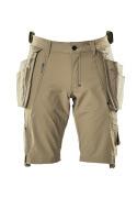 17149-311-55 Shorts med hængelommer - lys kaki