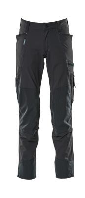 17179-311-010 Bukser med knælommer - mørk marine
