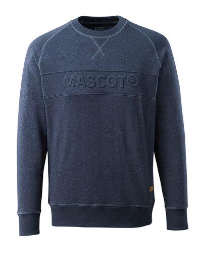 17184-830-66 Sweatshirt - vasket mørkeblå denim