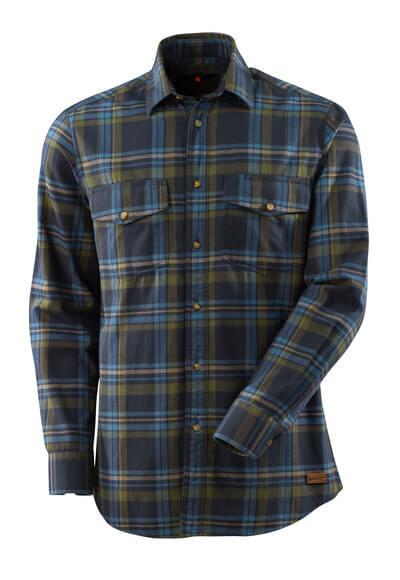 17204-991-01085 Skjorte - mørk marine/stenblå