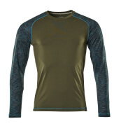 17281-944-33 T-shirt, langærmet - mosgrøn