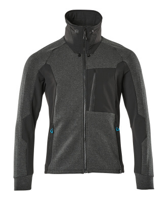 17484-319-09 Sweatshirt med lynlås - sort