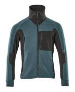 17484-319-4409 Sweatshirt med lynlås - mørk petroleum/sort