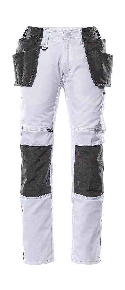 de39723ab70 17631-442-0618 Bukser med knæ- og hængelommer - hvid/mørk antracit