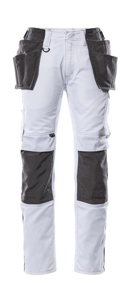 17631-442-0618 Bukser med hængelommer - hvid/mørk antracit