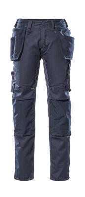 17731-442-010 Bukser med knæ- og hængelommer - mørk marine