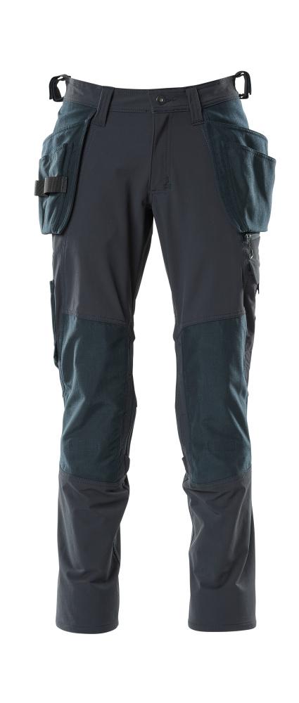 18031-311-010 Bukser med knæ- og hængelommer - mørk marine