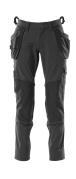 18031-311-09 Bukser med knæ- og hængelommer - sort