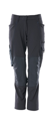18078-511-010 Bukser med knælommer - mørk marine