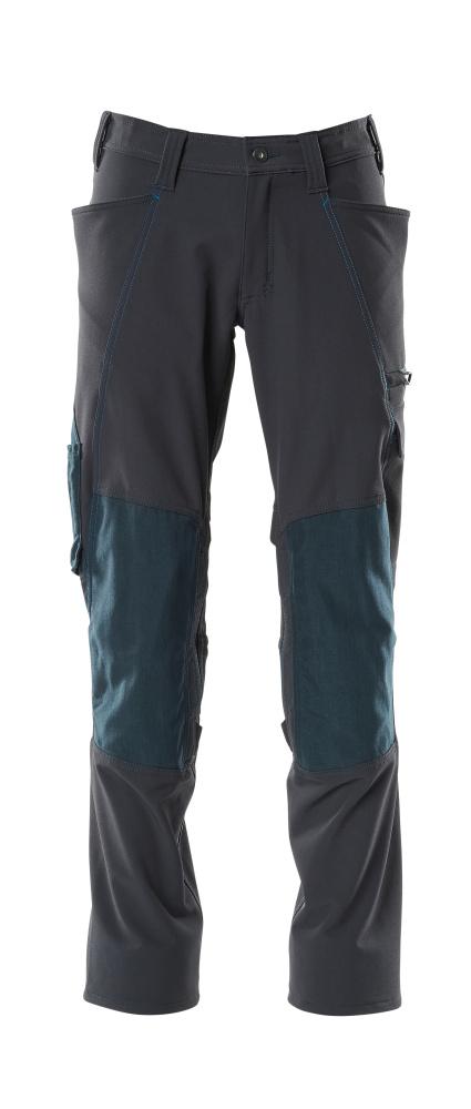 18079-511-010 Bukser med knælommer - mørk marine