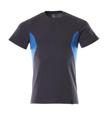18082-250-01091 T-shirt - mørk marine/azurblå
