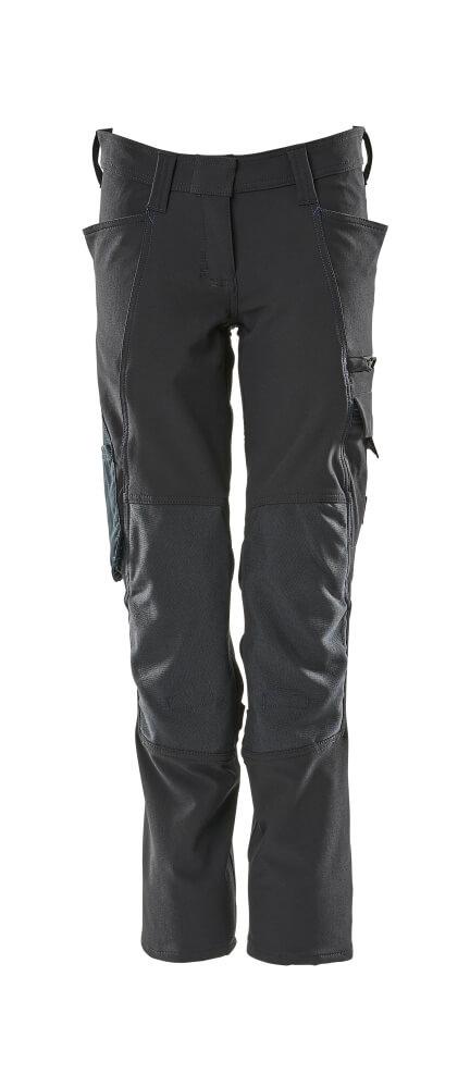 18088-511-010 Bukser med knælommer - mørk marine