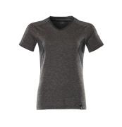 18092-801-1809 T-shirt - mørk antracit-meleret/sort