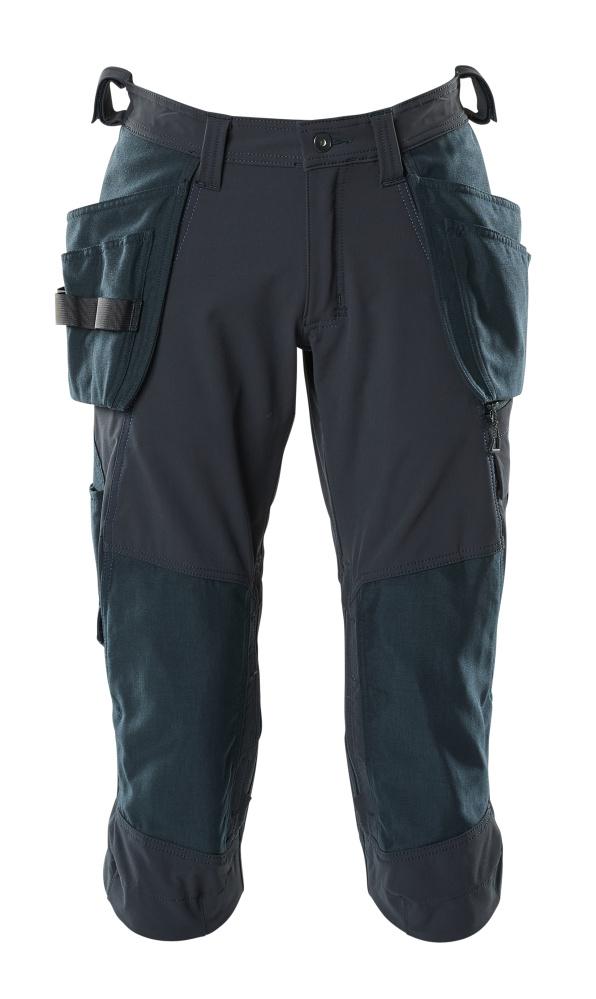 18249-311-010 Knickers med knæ- og hængelommer - mørk marine