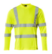 18281-995-17 T-shirt, langærmet - hi-vis gul