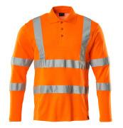 18283-995-14 Poloshirt, langærmet - hi-vis orange